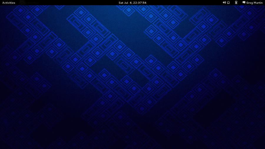 Standard GNOME3 Desktop in Fedora 19